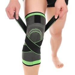 1 PCS de Fitness Correndo Ciclismo Joelheiras Apoio Cintas Elásticas Nylon Compressão Esporte Knee Pad Manga para Basquetebol Voleibol