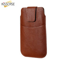 KISSCASE Universal Case For iPhone 6 6s 7 8 Plus X Retro Leather Waist Bag Cover Mobile Phone Case For Samsung S8 Plus S7 S6 S5(China)