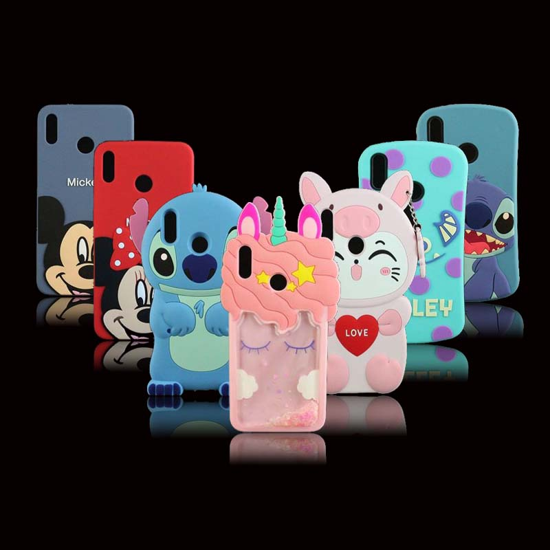 3D Silicon Case for Huawei honor 8x Case 6.5 inch Cute Cartoon Soft Phone Back Cover Case for huawei honor 8X Protect Fundas