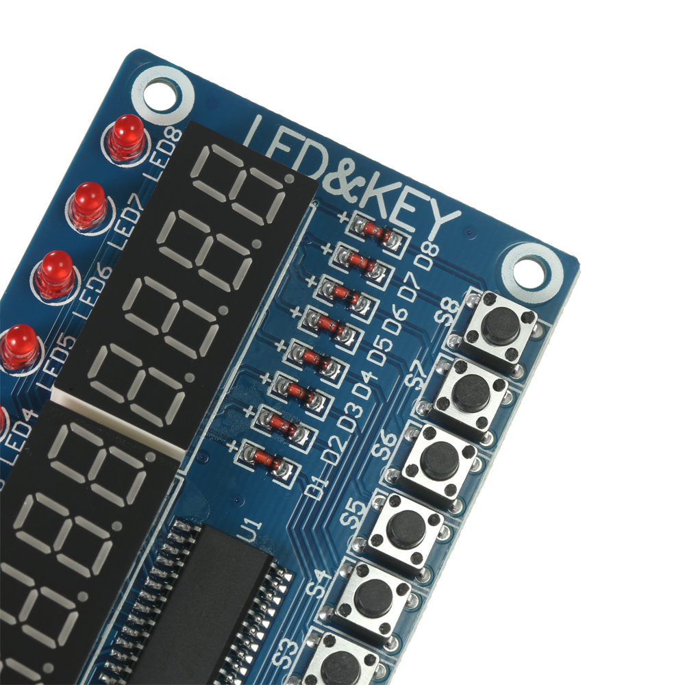 A 8-Bit Digital LED Display Module Tube 8-Bit TM1638 8 Key for AVR Arduino Support 8 brightness control