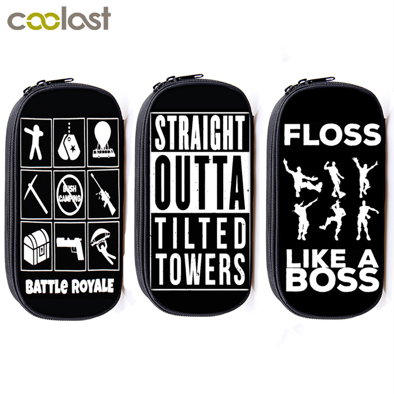 Floss Like Boss / Straight Outta Tilted Tower Cosmetic Cases Pencil Bag Children School Case Bag Stationary Bags School Supplies майка print bar straight outta 221b