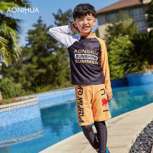 AONIHUA 2-12 Years Swimsuit Baby Boy Bikini Kids For Clothing Rash Guards hildren Split Boys Surfing Clothes Set Swimwear 1051