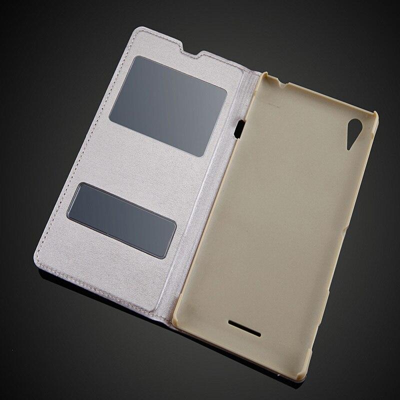 Sony Xperia T3 M50W D5103 Moda Görünüşü Pəncərə Dəsti PU - Cib telefonu aksesuarları və hissələri - Fotoqrafiya 3