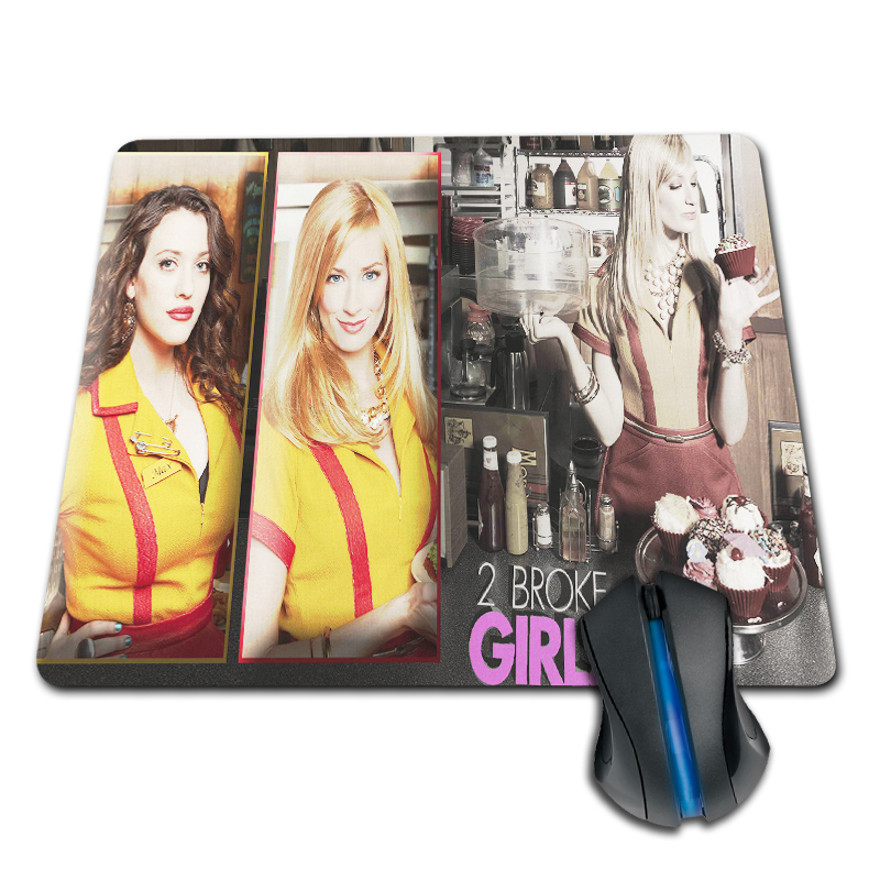 Babaite Customized 2 Broke Girls Max and Caroline Mouse Pad 180x220x20mm Soft Rubber Mouse Mat for Mouse Pad For Gamer Gaming