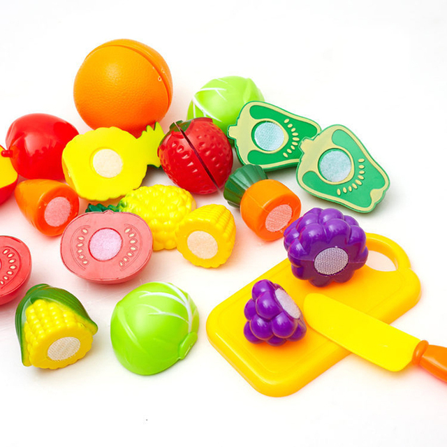 Play Kitchen Food aliexpress : buy 12 pcs/set kitchen food plastic fruit