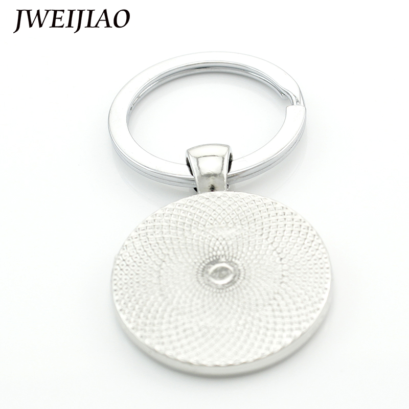 JWEIJIAO Flaming Basketball Keychains Sports Photo FIREBALL Glass Dome Design Key Car Pendant Jewelry Gift E824