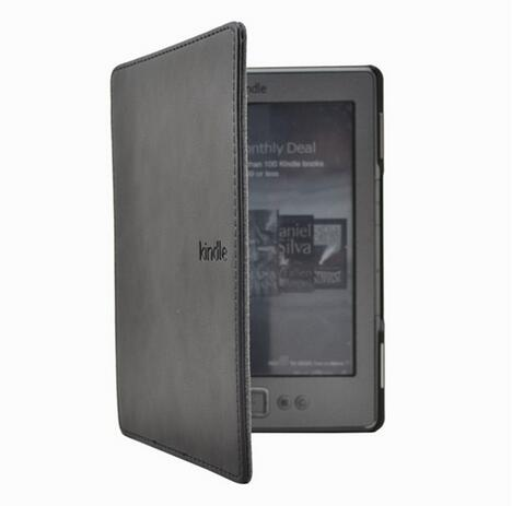 """1PC Leather Cover Case for Amazon Kindle 4/5 E-book Reader 6"""" Inch (not fit for kindle touch)-3"""