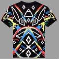 2016 nuevo Envío Libre Marcelo burlon hombres Camiseta de verano moda casual camisa de los hombres Delgados de los hombres de las mujeres ropa