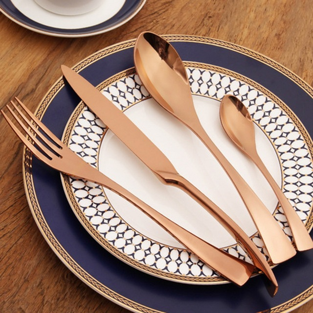 Hoomall Stainless Steel Fork Knife Dinnerware Set Cutlery Restaurant Food Tableware Gifts Home Kitchen Accessories Hot & Hoomall Stainless Steel Fork Knife Dinnerware Set Cutlery Restaurant ...
