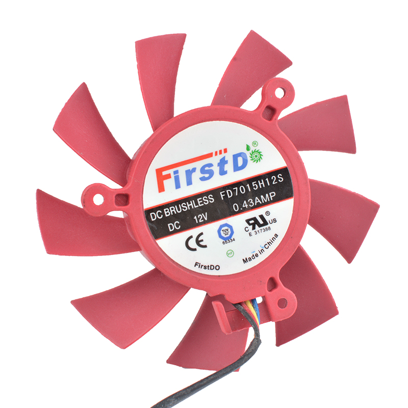 COOLING REVOLUTION FD7015H12S 65mm 39mm Fan 12V 0.43A 4Pin HD5770 HD5850 HD5830 VGA Video Card Cooling Fan
