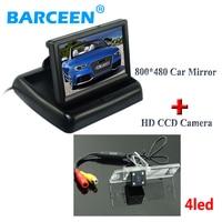 Original car reserve reversing camera 4 led +4.3 foldable car monitor for Mitsubishi Pajero Zinger L200 V3 V93 V5 V6 V8 V97