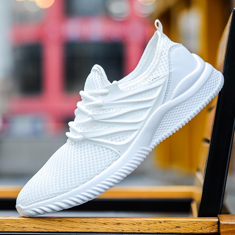 Men's Ultra Lightweight Breathable Mesh Sport Walking Shoes Barefoot Mesh Summer Running Sneakers Plus Size 39-45 все цены