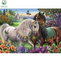 Little Tree Royal Horses 3d Animal Pattern Mosaic Decoration 5d Diy Diamond Painting Cross Stitch Kits