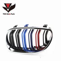 E60 M5 look Kidney ABS Chrome Gloss M color Car Styling Front Racing Grill Grille for BMW 5 Series E60&E60 M5