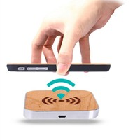 Portable QI Original Wooden Charging Pad Wireless Charger For Samsung Galaxy S6 S6 Edge S6 Edge