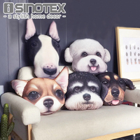 Cute Dog Cushion Cover Pillow Cases Pillowcase Teddy Chihuahua Bull Terrier Schnauzer Sausage 43X43cm Bedroom Sofa