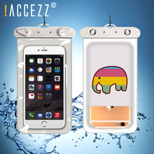 !ACCEZZ Universal Waterproof Phone Case 6 inch For iPhone 7 8 X XS XR MAX Samsung Swimming Pouch Water Proof Covers Coque