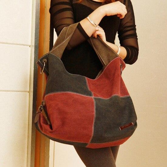 Bolsa Feminina Casual : Fashion canvas bag women handbag shoulder bags