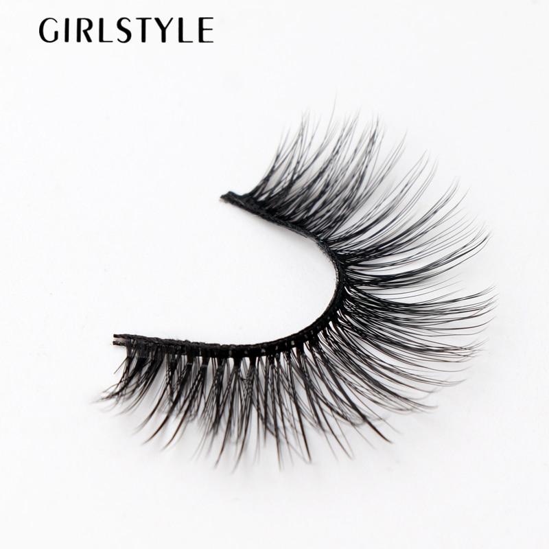 GIRLSTYLE brand Eye Lashes Extensions Makeup Tools 3 Pairs Natural Black Long False Eyelashes Sparse Cross Eyelashes Fake New