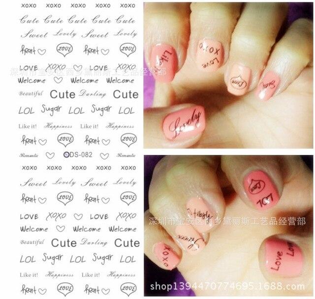 Diy water decals beauty sticker Japanese nail art decorations nail ...