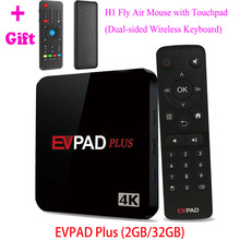 IPTV EVPAD Plus Android TV Box 2G/32G Asian Korean Japanese Malaysia SG HK TW CN Thailand Vietnam Sports 1000 Free Live Channels