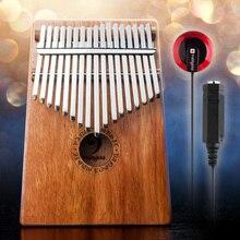 Vangoa 17 raktai Kalimba Mbira Finger Thumb Piano Mahogany Wood with Pickup