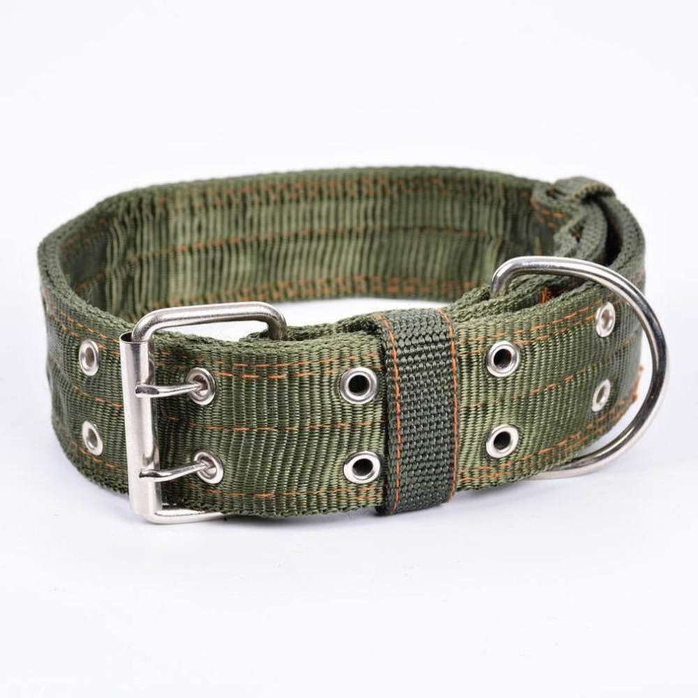 2017 4 layer Thicken Nylon Pet Collar Medium and Large Dog Collar Double Breasted Big Dog Leash Lead Super Strong Traction Rope