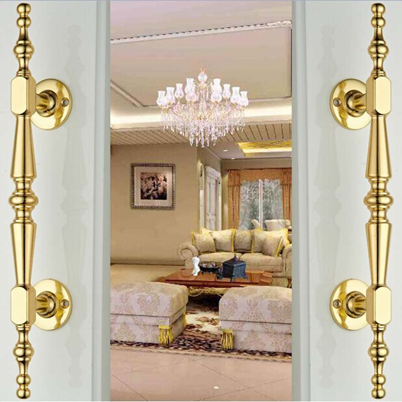 High Quality Exterior Doors Jefferson Door: 250mm High Quality Gold Wood Door Handles Silver Wood Door