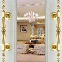 250mm High Quality Gold Wood Door Handles Silver Wood Door Pulls Zinc Alloy Home KTV Office