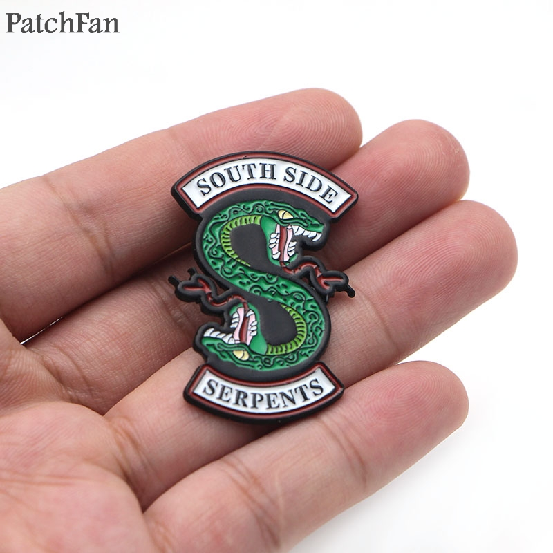Patchfan Movie Riverdale Southside Serpents Brooches For Men Women