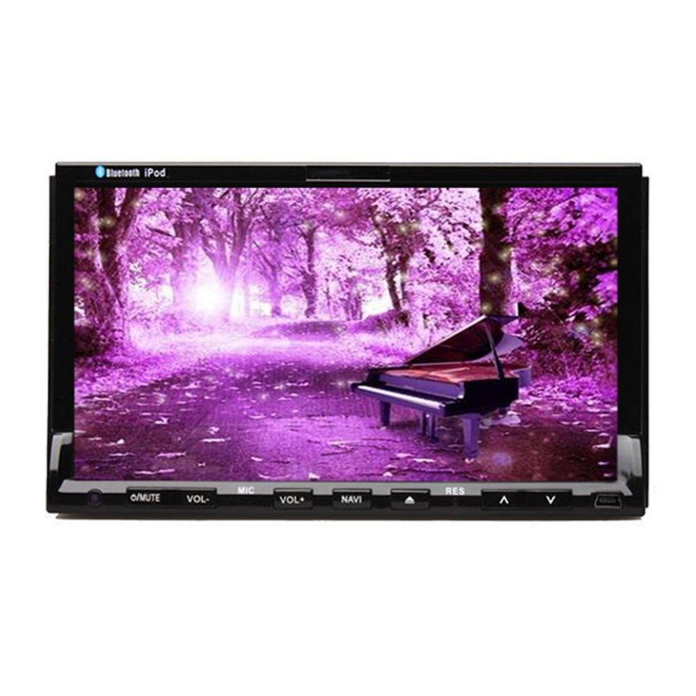 HD 7 Сенсорный экран Универсальный Двойной Дин Радио GPS Навигации 2Din стерео 7 дюймов dvd-плеер автомобиля Bluetooth usd SD головного устройства ...