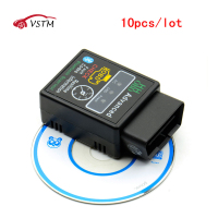 10pcs/lot Auto Car ELM327 V2.1 HH Android Bluetooth OBD 2 OBD II Diagnostic Scan Tool elm 327 Scanner