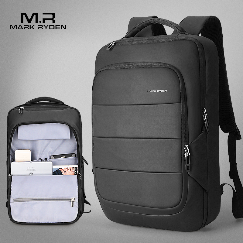 Mark Ryden 2018 Summer New Arrival Men Water Resistant Backpack USB Recharging Backpack fit for 15.6 inches Laptop