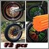 72pcs Universal Motorcycle Dirt Bike Enduro Off Road Wheel Rim Spoke Shrouds Skins Covers KTM For