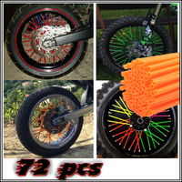 72pcs Universal Motorcycle Dirt Bike Enduro Off Road Wheel Rim Spoke Shrouds Skins Covers KTM For