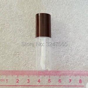 Image 3 - 3 ML מיני Tube יפ גלוס ריק עם צבעוני שווי, בקבוק מדגם שפתון קוסמטי קטן, פלסטיק קוסמטי נייד מיכל שמן שפתיים