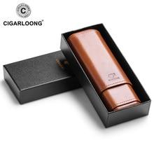 COHIBA Cedar Wood Cigar Humidor Travel Portable Leather Case Cigars Box  CF-1901