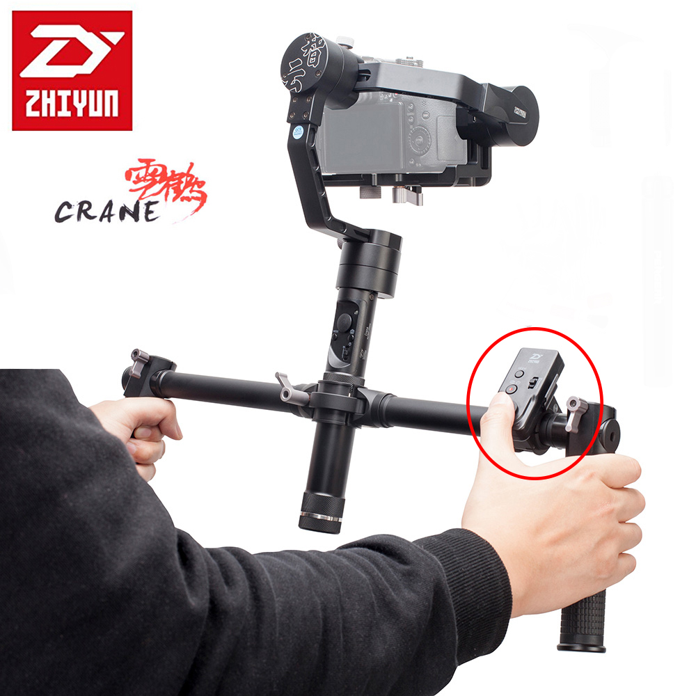 Zhiyun Crane V2 3 Axis Handheld Gimbal Stabilizer Brushless Motors for Mirrorless Camera with ZW-B02 Remote Dual Handheld Grip professional dv camera crane jib 3m 6m 19 ft square for video camera filming with 2 axis motorized head