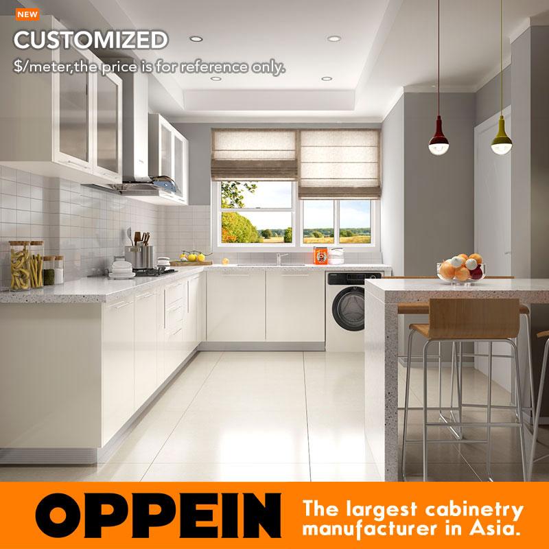 ventas calientes verde moderno gabinetes de cocina muebles de cocina modulares opl
