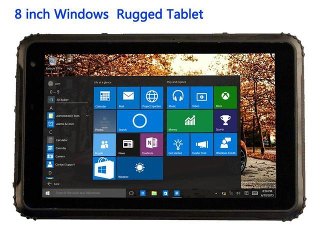 """2017 промышленный прочный сенсорный планшетный ПК Windows 10 тонкий водонепроницаемый пылезащитный противоударный телефон 8 """"2G RAM GPS 4G LTE Android 5,1"""