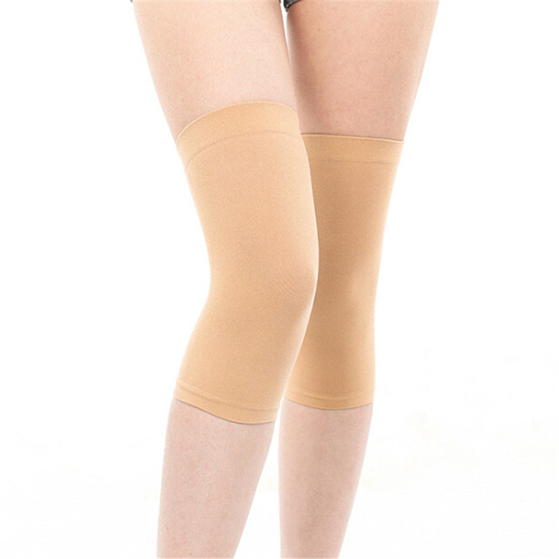 Trendy Women Clothes Summer Thin Solid Nylon Casual Elbow Knee Sleeve Breathable Warmer Protector One Pieces