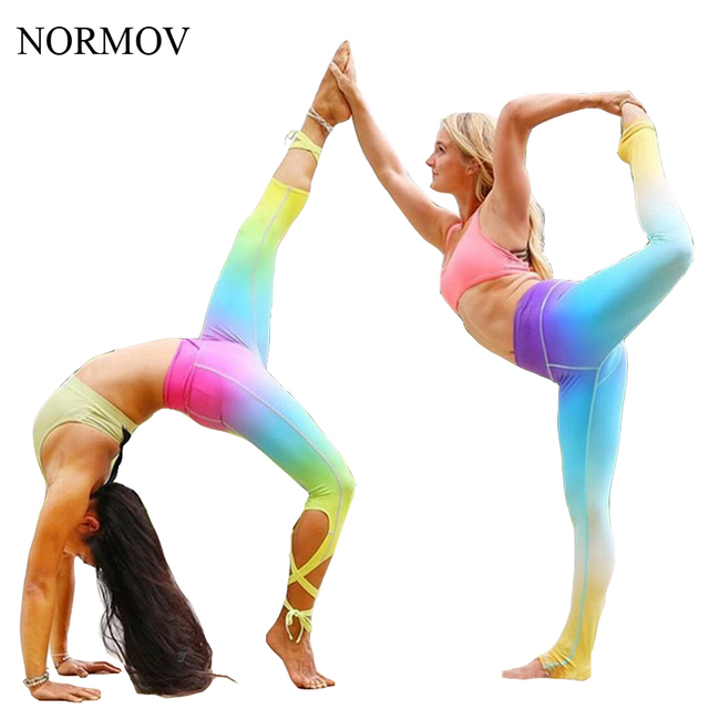 NORMOV S-XL Adventure Time Leggings Women Super Soft Rainbow Workout Push Up Legging Stretch Sexy Bandage Leggns