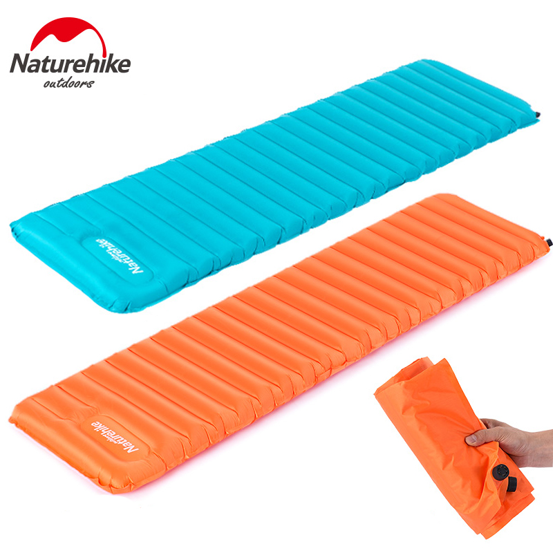 Naturehike New 570G Manually Inflatable Cushion Camping Mat Tent Air Mattress Outdoor Moisture-proof Pad NH15T052-P premium tempered glass