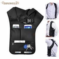 DINIWELL voyage Anti-vol sac de sécurité sous les bras épaule aisselles sac pistolet étui pour Airsoft Anti-voleur pochette Pack
