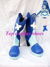 Freeshipping Pretty Cure 5 Cure Aquall Smile Precure! Cure Aqua Cosplay Boots shoes custom-made for Halloween Christmas(China)