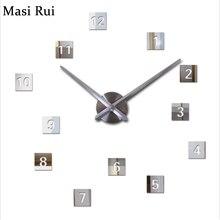 2017 new wall clock diy clocks reloj de pared quartz watch europe living room large decorative horloge murale watches stickers