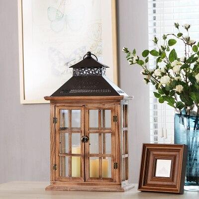 Китайские Ретро Винтажные деревянные Дворовые ветровые лампы подсвечники романтические свадебные украшения для дома Рождественские Креа