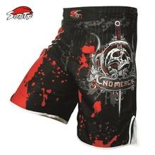 MMA Shorts Boxing-Pants Fight Muay-Thai Kick-Gel Printing SUOTF Men Yes Polyester Men's