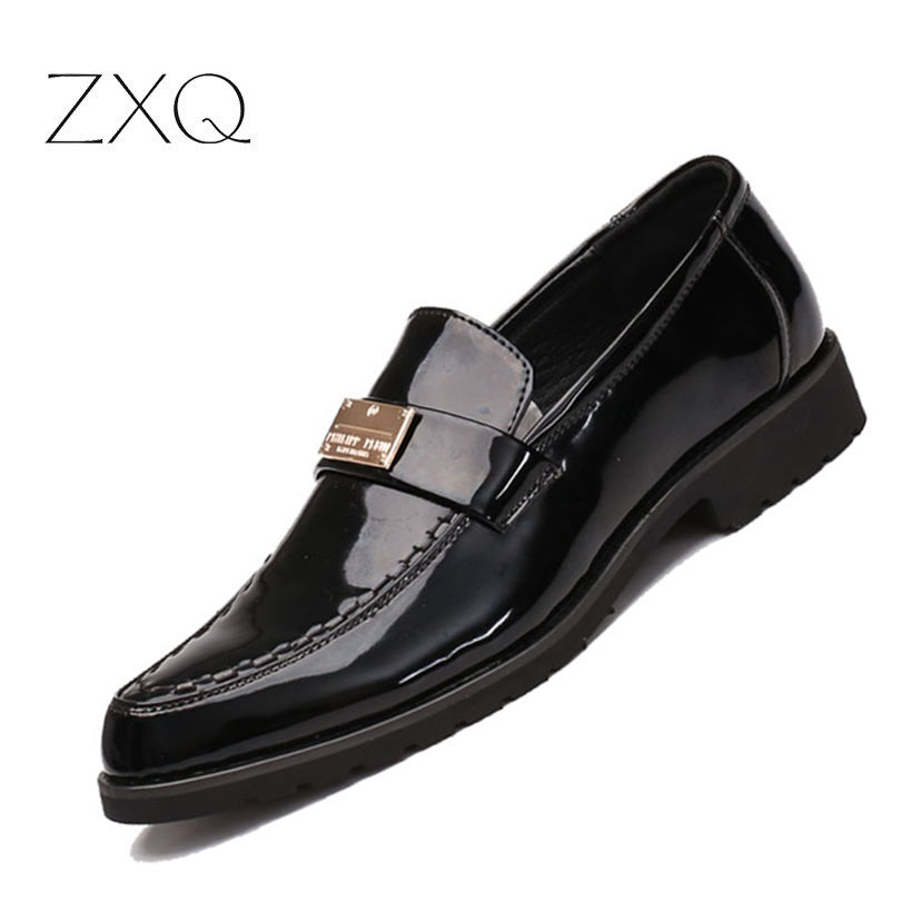 Plus Size 38-48 Men Patent Leather Moccasins Loafers Pointed Toe Slip On Driving Shoes Pleated Flats Leather Loafers ladies loafers shoes gold silver plus size feminino 14 15 pointed toe ballet flats slip ons women summer fashion for driving