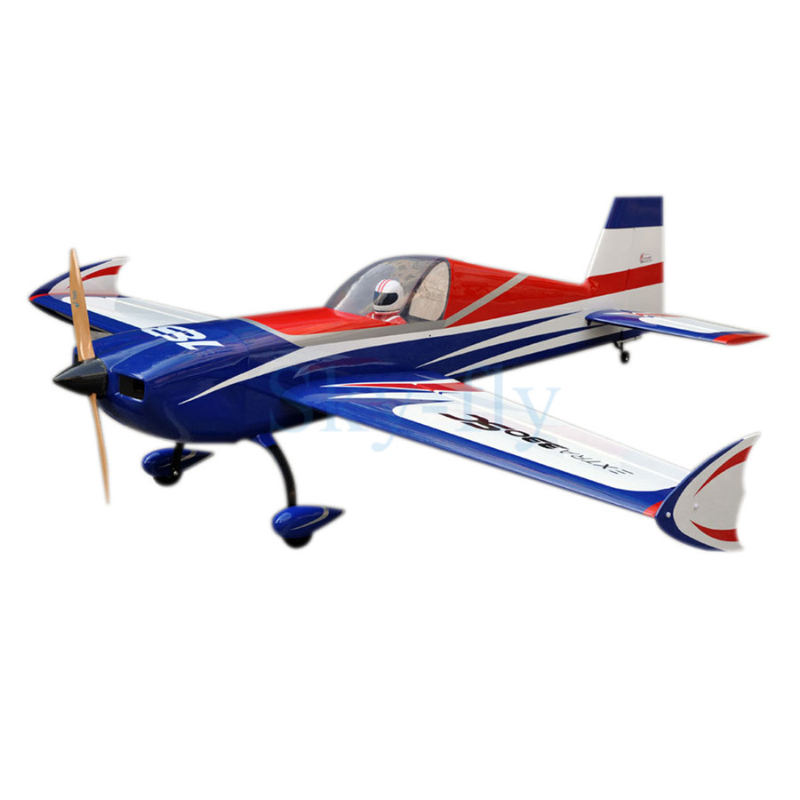 Sky-fly F151 Extra 330SC 60CC-80CC 93 Gasline Fixed Wing RC Airplane Blue/Silver IN US image
